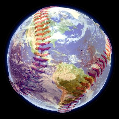Earth as a baseball