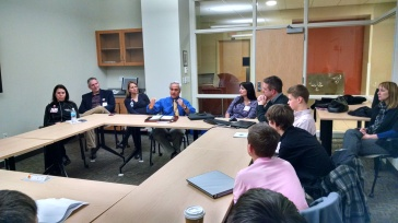 Dr. Sondel speaking to group