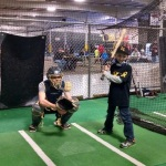 Tyler in batters box pitchers view