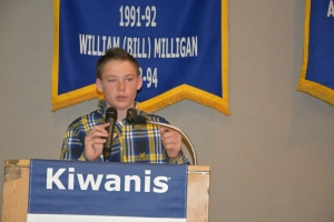 Britton presenting at Kiwanis 4.2015