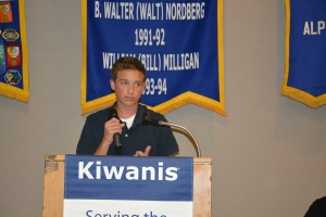 Brock presenting at Kiwanis 4.2015