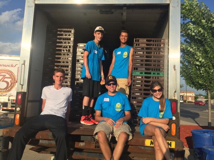 Group in Bread Truck