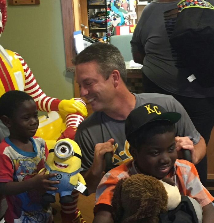 Me, Norrail, and his little brother at Ronald McDonald House