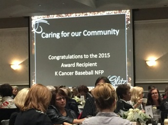 Award goes to k cancer baseball
