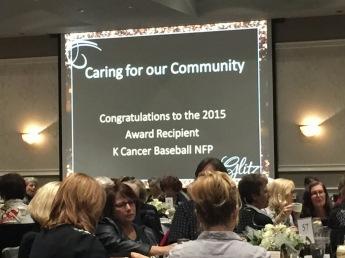 Award goes to k cancer baseball