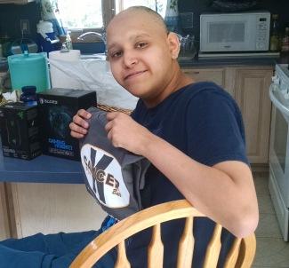 Albert with K Cancer Shirt