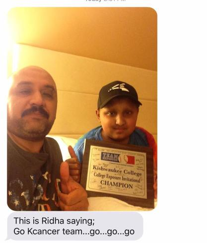 Ridha with trophy